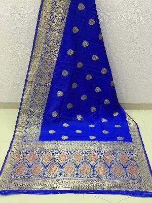 Dark Blue Traditional Banarasi Silk Sarees 02