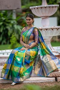 Green Kanchipuram Silk Sarees