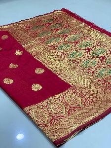 Maroon Traditional Banarasi Silk Sarees