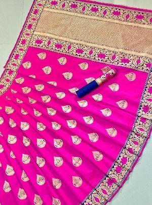 Pink Meenakari Banarasi Sarees 01