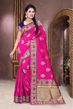 Pink Meenakari Banarasi Sarees 02