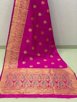 Purple Traditional Banarasi Silk Sarees 02