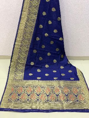 Royal Blue Traditional Banarasi Silk Sarees 02