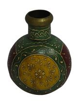 Indian Home Decor Handmade Painted Antique Metal Flower Pot/Vase