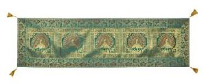 Vintage New Silk Table Runner Brocade Table Tapestry