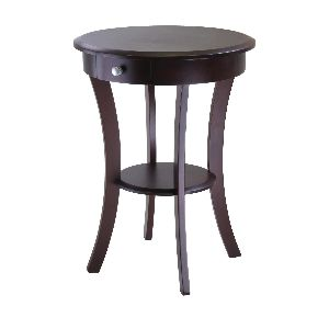 ACT01-ROUND ACCENT TABLE WITH DRAWER