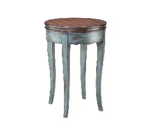 ACT02-ROUND WOODEN ACCENT TABLE