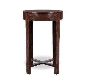 ACT03-ROUND WOODEN ACCENT TABLE