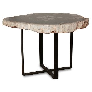 ACT13-PETRIFIED WOOD ACCENT TABLE