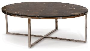 ACT14-PETRIFIED WOODEN COFFEE TABLE
