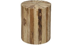 ACT16-ROUND WOOD SIDE TABLE