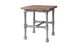 ACT29-INDUSTRIAL RECYCLED WOOD ACCENT TABLE