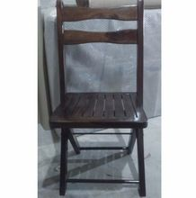 Rustic Wood Folding Chair, Rose Sheesham Wooden Dining chair