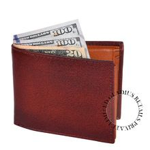 Leather Wallet with zip coin pocket