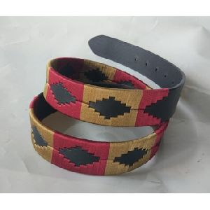 Double Coloured Polo argentinian weaved leather belts for men and Women