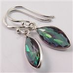 Amazing MYSTIC QUARTZ Gemstones Fabulous Deco Earrings 925 Solid Sterling Silver