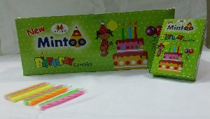 Mintoo Green Birthday Candle