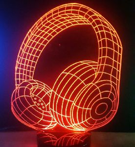 Headphone 3D Illusion Lamp
