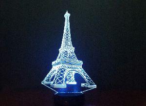 Eiffel Tower 3D Illusion Lamp 03