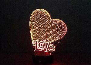 Love 3D Illusion Lamp 04