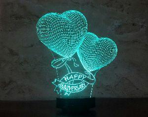 Love 3D Illusion Lamp 06