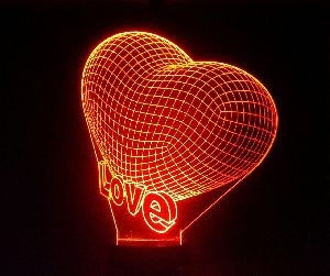 Love 3D Illusion Lamp