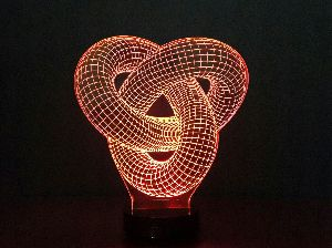 Love Knot 3D Illusion Lamp 02