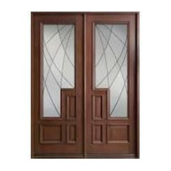 Mirror Teak Wood Door
