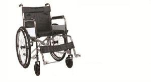 Hard Chrome Coated Black Cushion Wheelchair