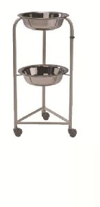 Stainless Steel Two Tier Bowl Stand