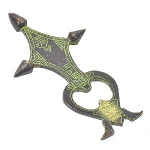 Patina Rich Brass Tribal Symbol Bottle Opener
