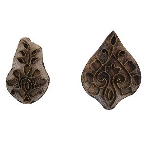 Set of 2 Piece Super Fine Wooden Printing Block