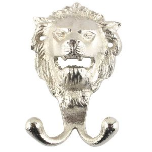 Silver Lion Iron Hook