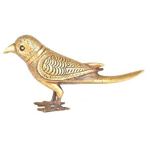 Vintage Solid Brass Bird Figurine