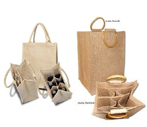 6 BOTTLE JUTE WINE BAG