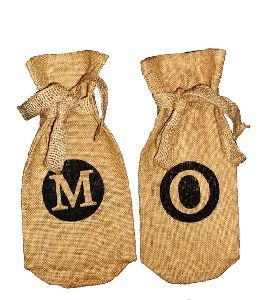 burlap bottle bag