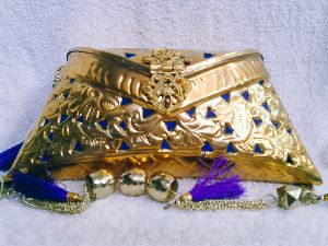 Brass Cutwork Jali Purse