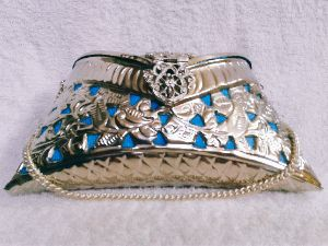 Brass Cutwork Jali Silver Purse