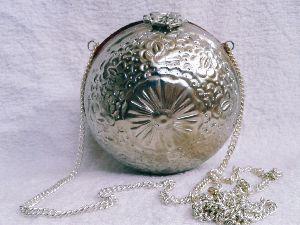 Brass Embossed Ball Purse