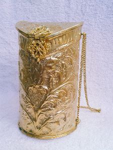 Brass Embossed Long Shape Purse