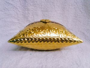 Brass Embossed Pillow Purse