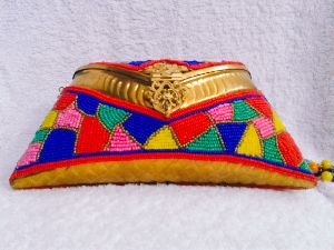 Geometric Work Clutch Purse