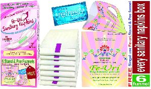 Fe-Uri Anion Chip Sanitary Napkin