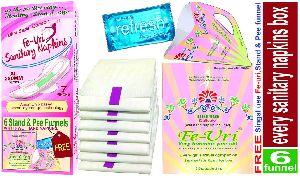 Fe-Uri Anion Chip Sanitary Napkin
