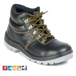 Buff Leather High Ankle Steel Toe Safety Shoes