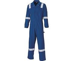 Cotton Coverall with Reflective Tape