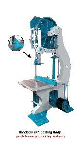 24 Inch Casting Body Bandsaw Machine With Loose Jam Pulley System