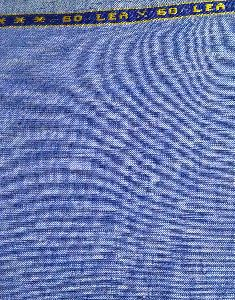Blue100% Pure Linen Lea 60*60 Fabric