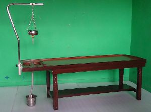 2248 Wooden Massage Cum Shirodhara Tables