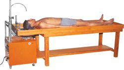 2271 A Wooden Massage Cum Shirodhara Tables